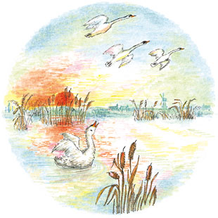 illustration by Bernadette Watts for The Ugly Duckling, Medialynx Japan 2002